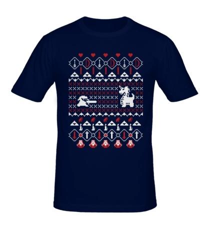 Мужская футболка Go Alone At Christmas