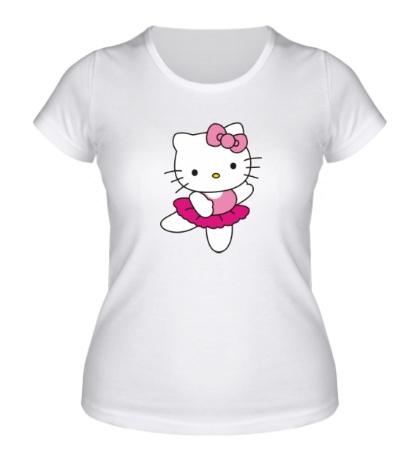 Женская футболка Китти танцует