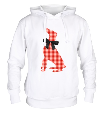 Толстовка с капюшоном Retro Christmas Dog Style