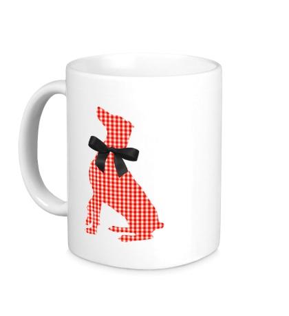 Керамическая кружка Retro Christmas Dog Style