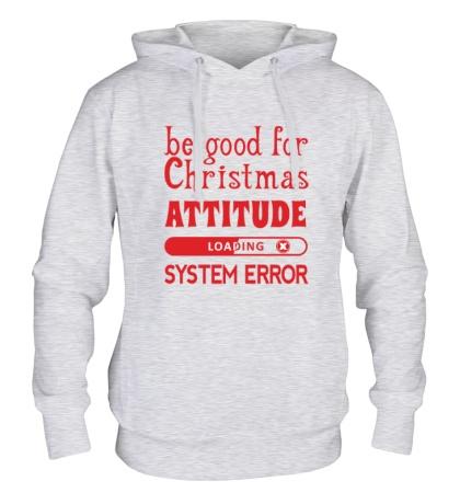 Толстовка с капюшоном Be good for Christmas...