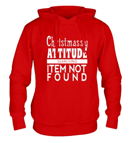 Толстовка с капюшоном Christmassy Attitude