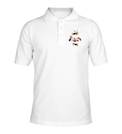 Рубашка поло Рождественские пёсики