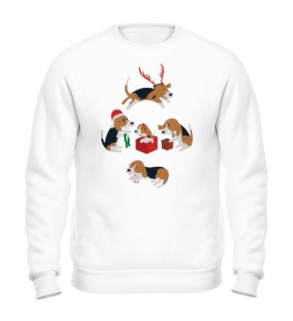 Свитшот Рождественские пёсики