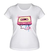 Женская футболка Ретро аудиокассета