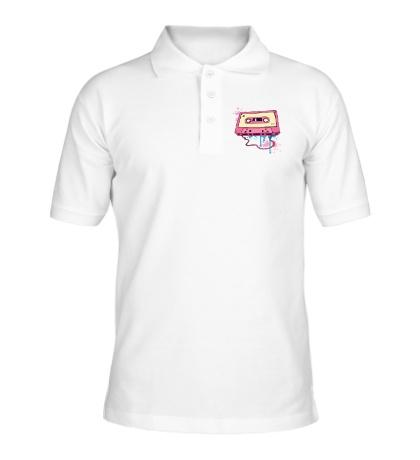 Рубашка поло Ретро аудиокассета