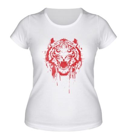 Женская футболка Рёв тигра