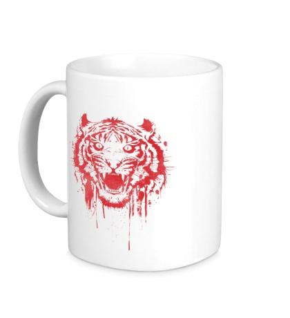 Керамическая кружка Рёв тигра