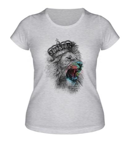 Женская футболка Коронованный Лев