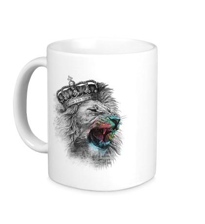 Керамическая кружка Коронованный Лев