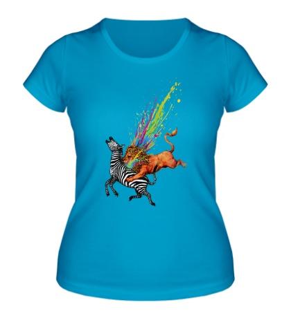 Женская футболка Львиная охота