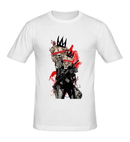 Мужская футболка Вооруженный лев