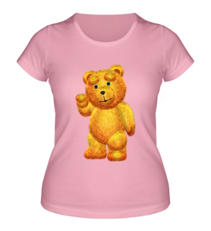 Женская футболка Медведь Тедди