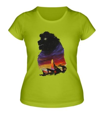 Женская футболка Львиная стая