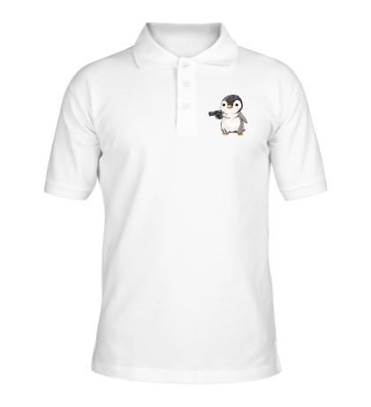 Рубашка поло Опасный пингвин