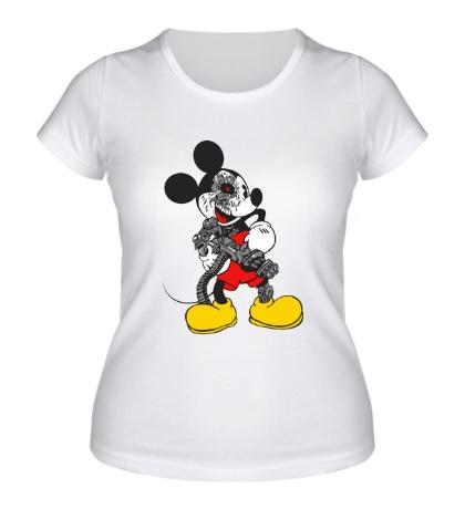Женская футболка Микки терминатор
