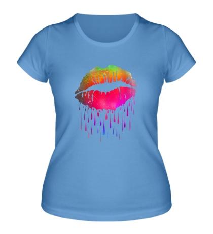 Женская футболка «Радужные губы»