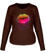 Женский лонгслив «Радужные губы» - Фото 1