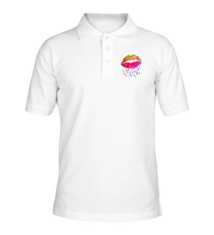 Рубашка поло «Радужные губы»