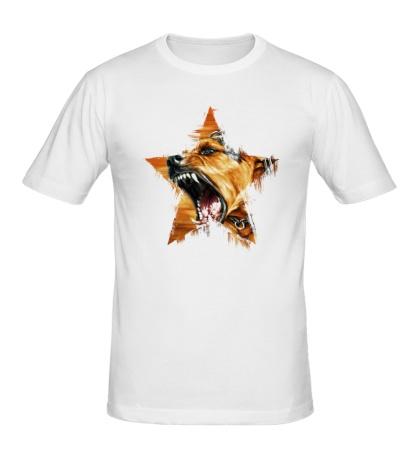 Мужская футболка «Звёздный пёс»