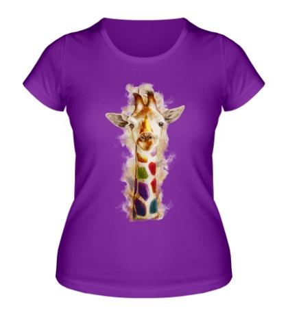 Женская футболка «Позитивный жираф»