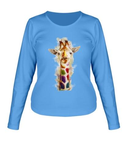 Женский лонгслив Позитивный жираф