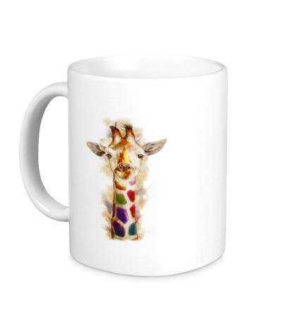 Керамическая кружка Позитивный жираф