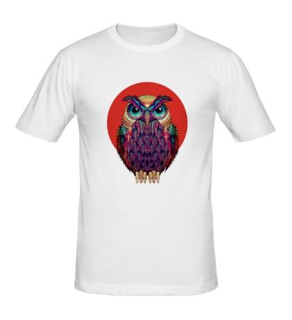 Мужская футболка «Сова на закате»