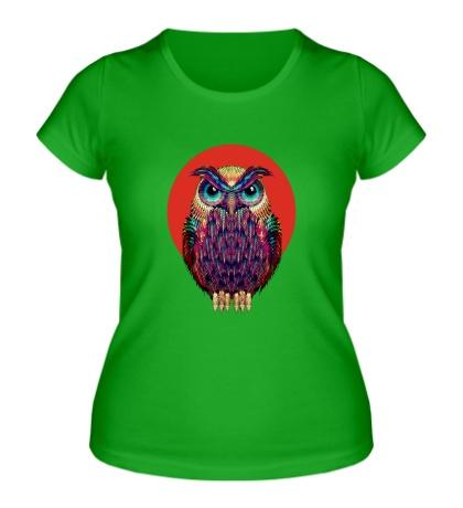 Женская футболка «Сова на закате»