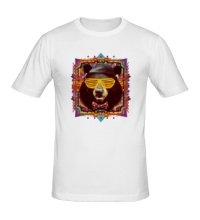 Мужская футболка Медведь хипстер