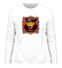 Мужской лонгслив Медведь хипстер