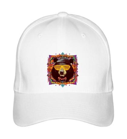 Бейсболка «Медведь хипстер»