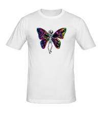 Мужская футболка Скелет бабочки