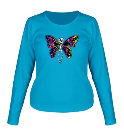 Женский лонгслив «Скелет бабочки»