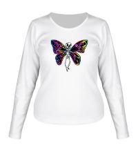 Женский лонгслив Скелет бабочки