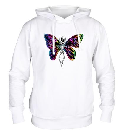 Толстовка с капюшоном Скелет бабочки