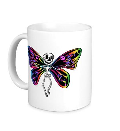 Керамическая кружка «Скелет бабочки»