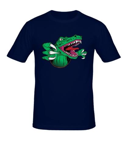 Мужская футболка Голодный динозавр
