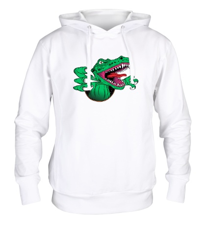 Толстовка с капюшоном Голодный динозавр