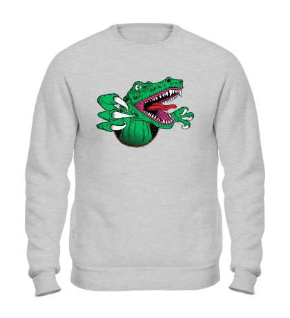 Свитшот Голодный динозавр