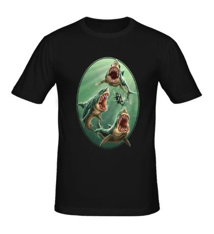 Мужская футболка «Ярость белых акул»