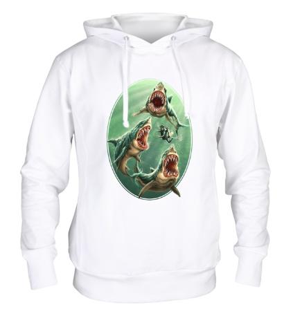 Толстовка с капюшоном «Ярость белых акул»