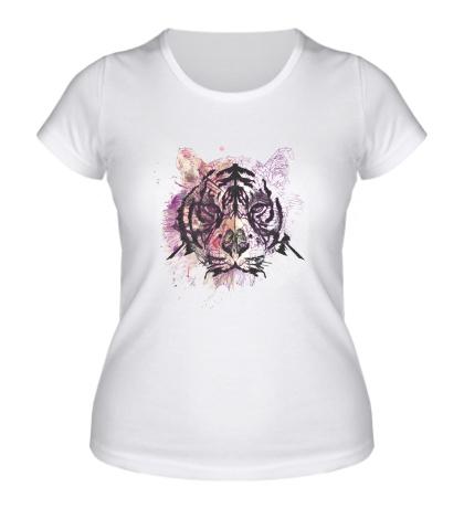 Женская футболка «Splatter tiger»