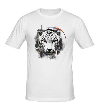 Мужская футболка Белый тигр