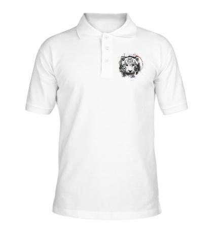 Рубашка поло Белый тигр
