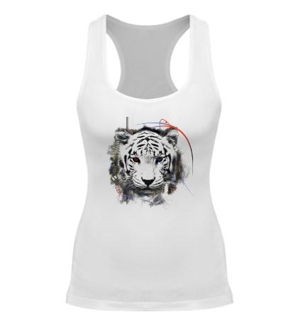 Женская борцовка Белый тигр