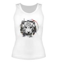 Женская майка Белый тигр