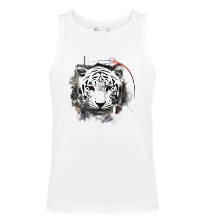 Мужская майка «Белый тигр»