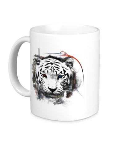 Керамическая кружка Белый тигр