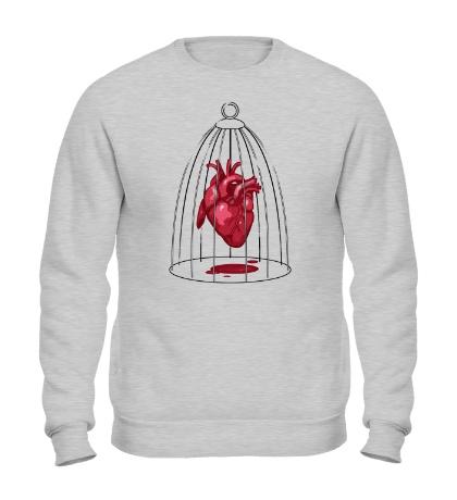 Свитшот Сердце в клетке